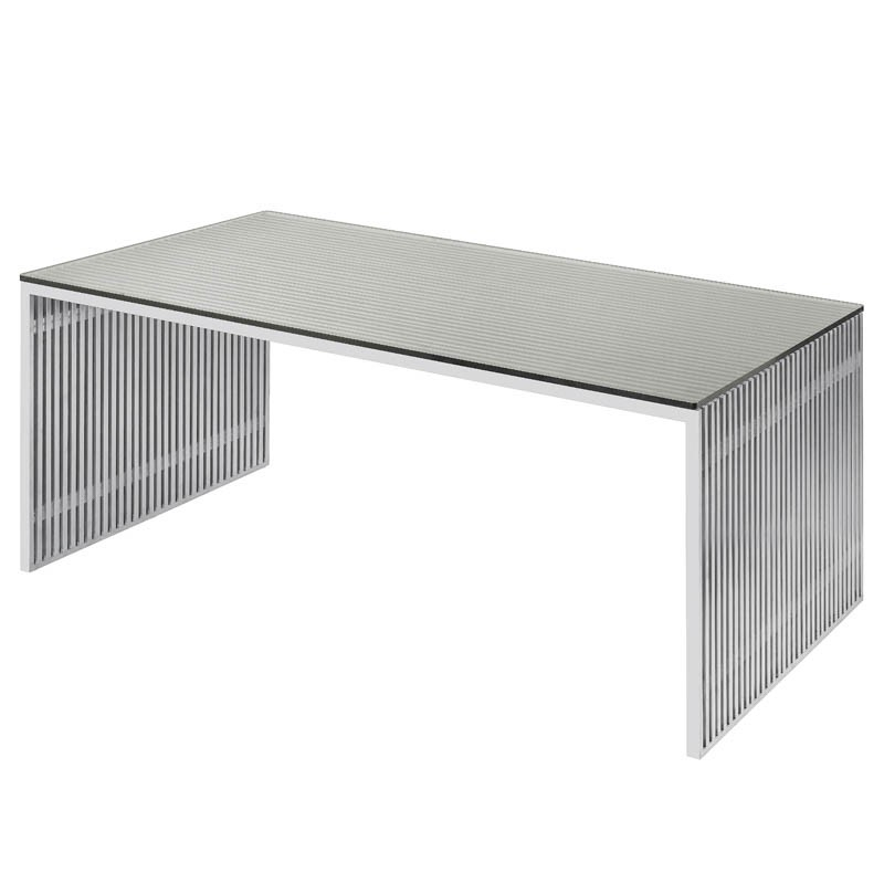 Amici – Nuevo In Dining Tables With Brushed Stainless Steel Frame (View 14 of 25)