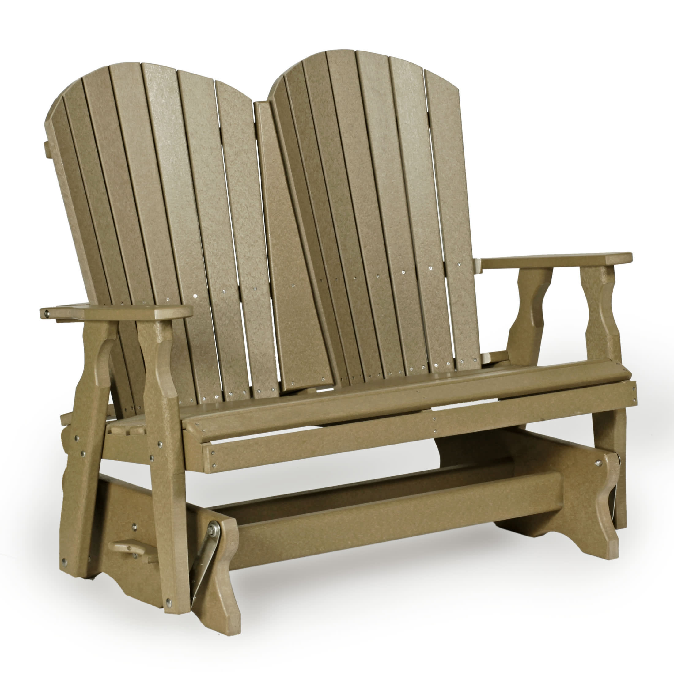 Amish 4' Poly Fan Back Glider – Leisure Lawns Collection Within Fanback Glider Benches (View 10 of 25)