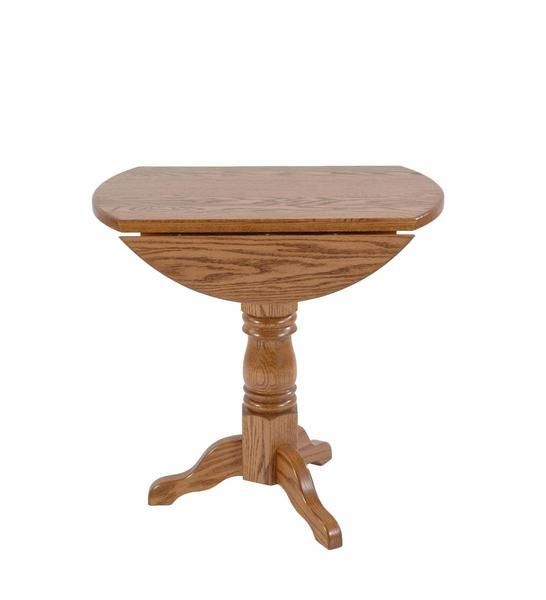 Amish Round Single Pedestal Drop Leaf Table In 2019 | Dining Pertaining To Transitional 4 Seating Drop Leaf Casual Dining Tables (Image 5 of 25)