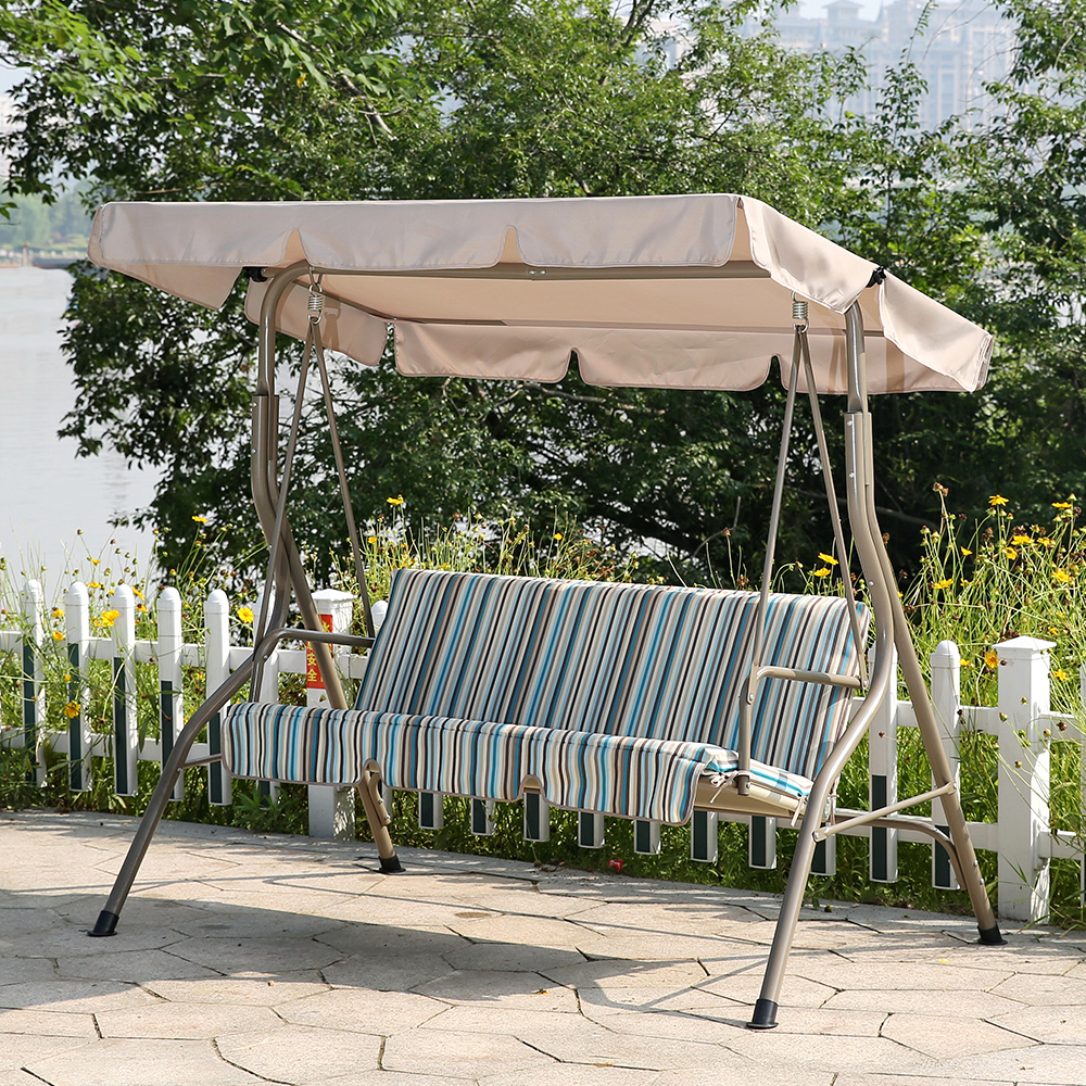 Andrea Padded 3 Seater Swing In 3 Seat Pergola Swings (View 25 of 25)