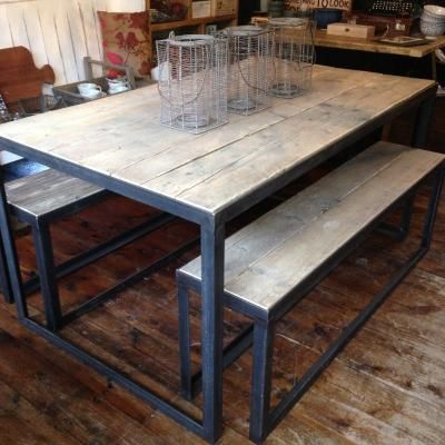 Angle Iron Table | Iron Table, Iron Table Legs, Dining Table With Regard To Iron Wood Dining Tables (View 8 of 25)