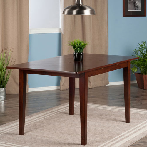 Anna Transitional 4 Seating Casual Dining Table – Walnut Intended For Transitional 6 Seating Casual Dining Tables (View 9 of 25)