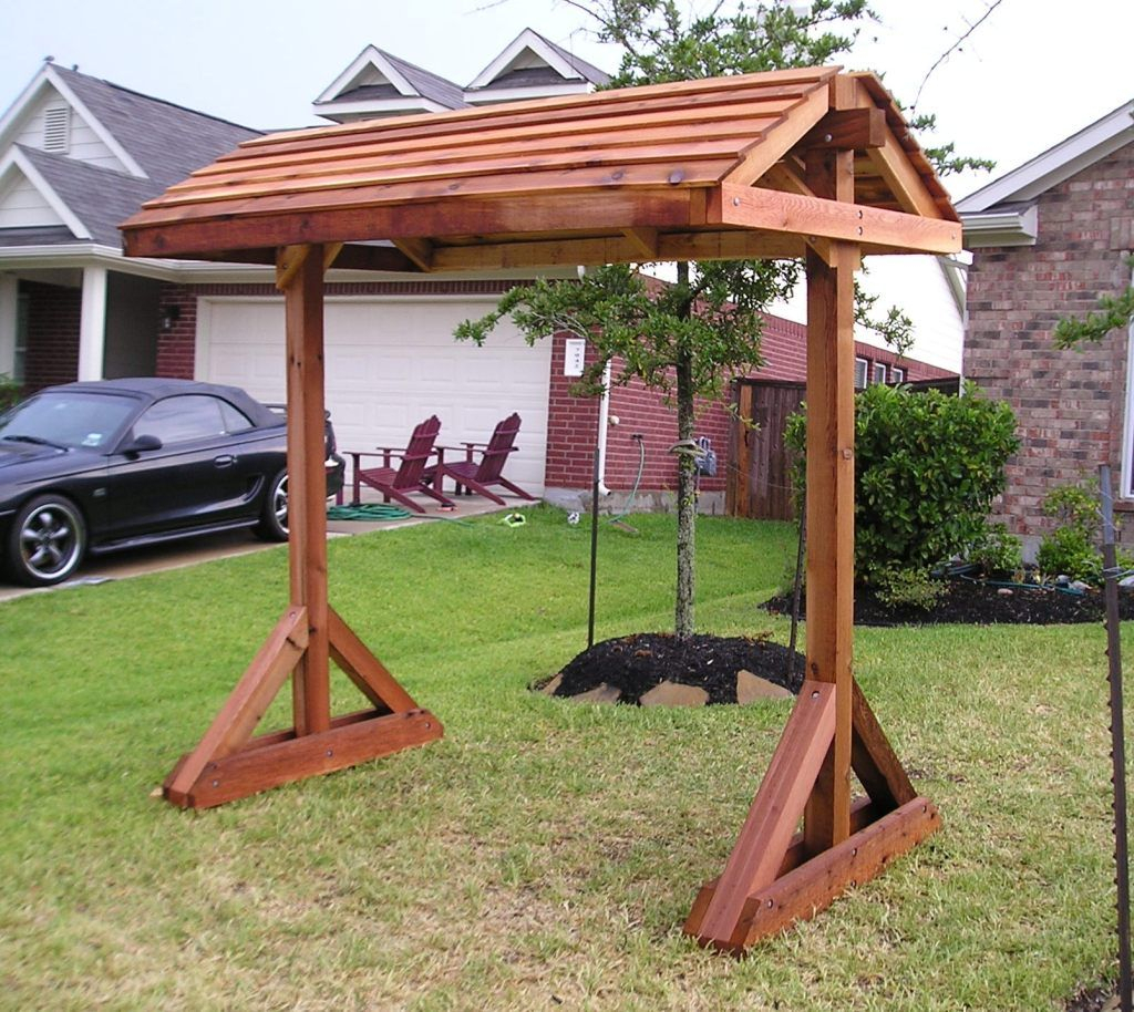 Arbors And Stands | Porch Swing Frame, Free Standing Pergola For Pergola Porch Swings With Stand (View 3 of 26)