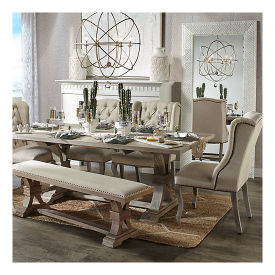 Archer Dining Chair – Natural Grey | Dining Room Furniture With Regard To Distressed Grey Finish Wood Classic Design Dining Tables (Image 3 of 25)