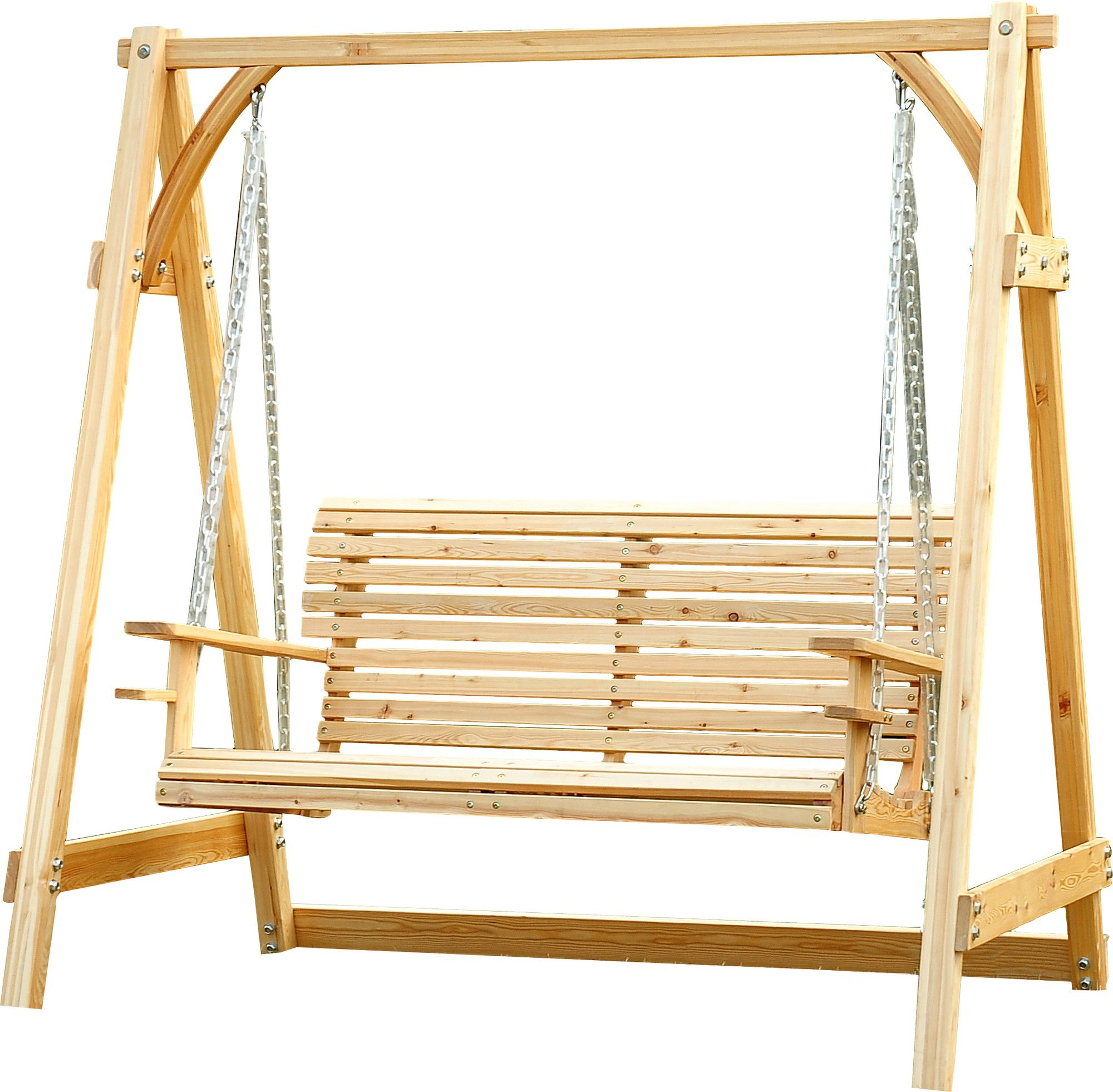 Featured Image of Hardwood Hanging Porch Swings With Stand