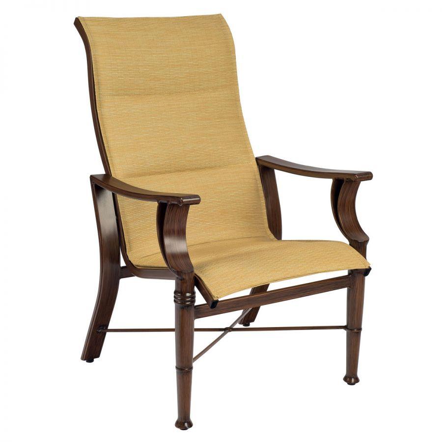 Arkadia Padded Sling High Back Dining Armchair Throughout Padded Sling High Back Swivel Chairs (View 24 of 25)