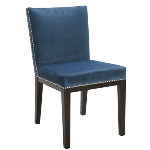 Artefac Contemporary Casual/kitchen Chair – Blue; Silver Throughout Artefac Contemporary Casual Dining Tables (Image 2 of 25)