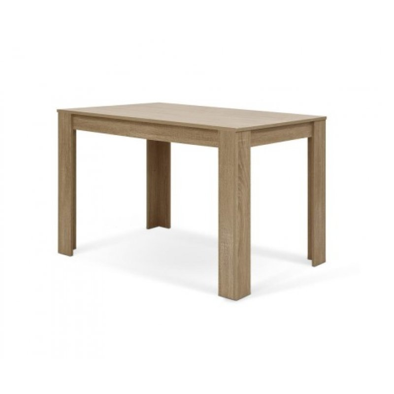 Artiss Wooden Dining Table Natu 120Cm 4 Seater Kitchen Rectangular Modern  Oak Intended For Contemporary 4 Seating Oblong Dining Tables (View 8 of 25)