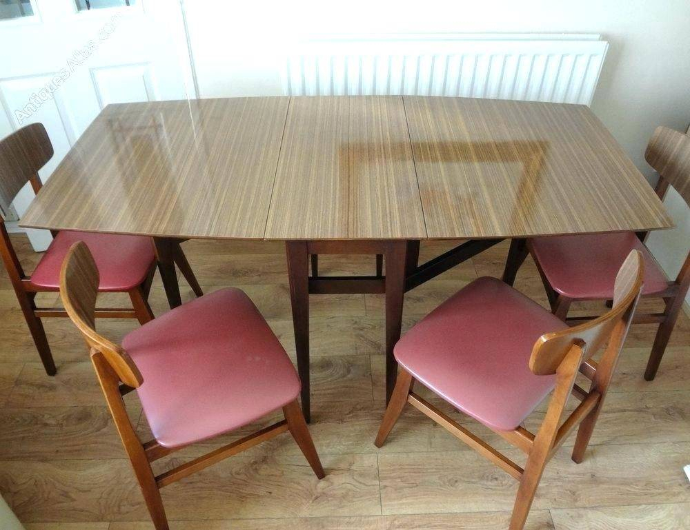 Astonishing Antiques Retro Dining Table Chairs Top Tables Pertaining To Retro Round Glasstop Dining Tables (Image 3 of 25)