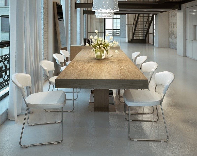 Astoria Walnut Extendable Modern Rectangular Dining Table In Contemporary Rectangular Dining Tables (View 3 of 25)
