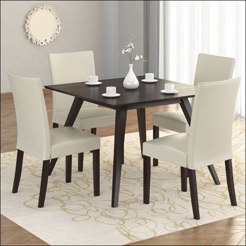 Atwood Transitional Square Dining Table – Rich Cappuccino Inside Atwood Transitional Square Dining Tables (View 10 of 25)