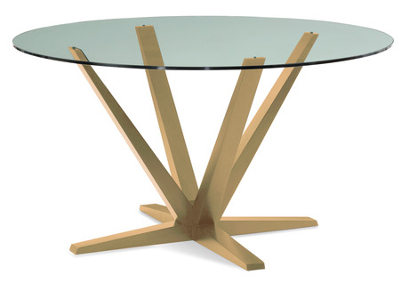 Aura Round Dining Table – Glass Top With Regard To Round Dining Tables With Glass Top (View 5 of 25)