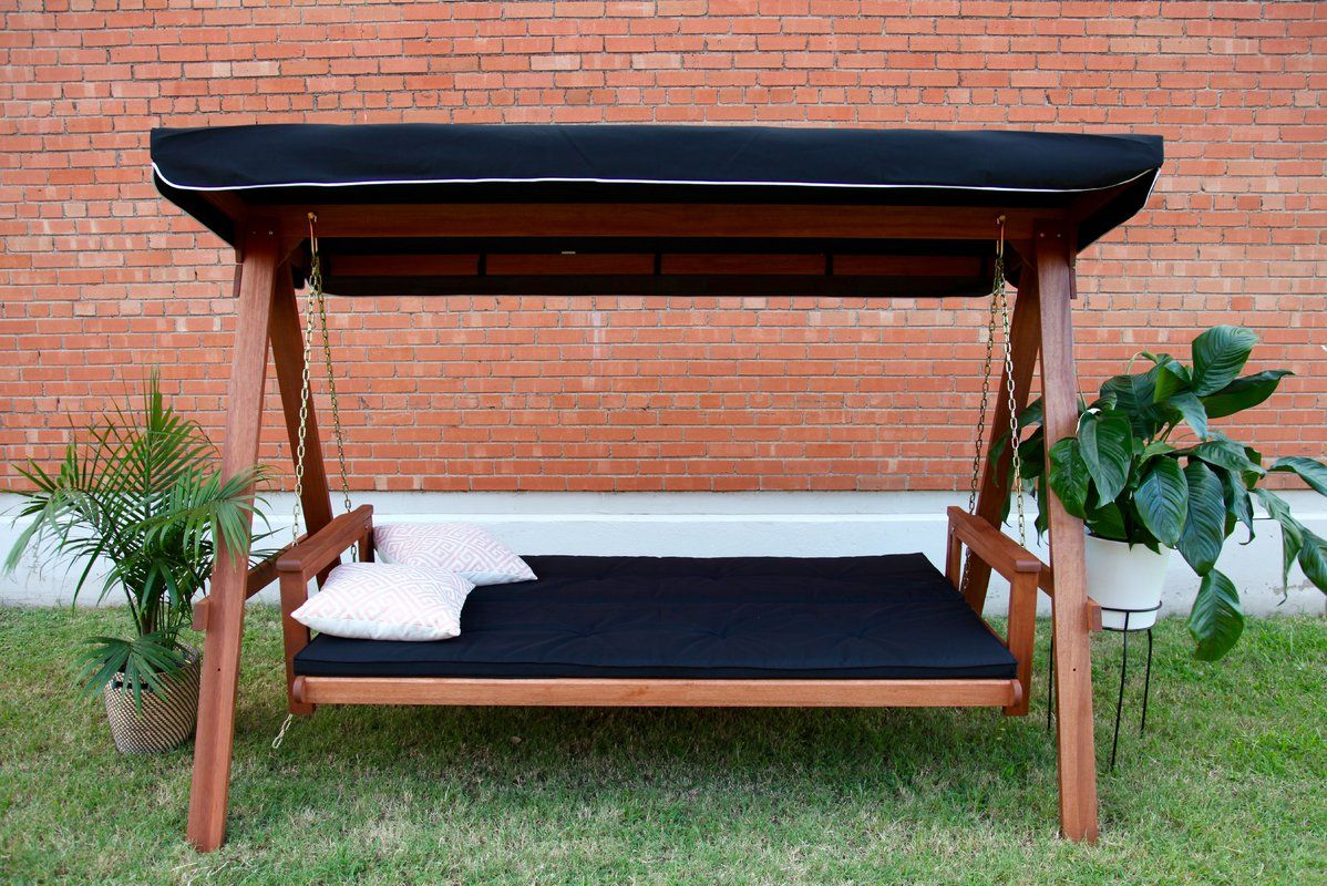 Avoca Daybed Porch Swing With Stand | Backyard | Porch Swing Pertaining To Daybed Porch Swings With Stand (View 4 of 25)