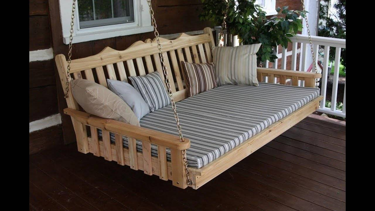 Awesome Bedrooms Swinging Porch Swing Designs Hanging Large Within Day Bed Porch Swings (View 22 of 25)