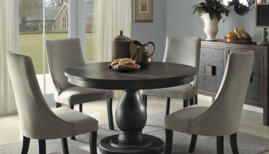 Awesome Small White Wooden Kitchen Table Black Circle Dining Regarding Solid Wood Circular Dining Tables White (Image 2 of 25)