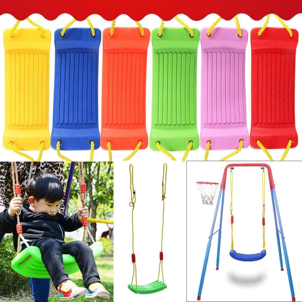 Baby Kids Children Toy Indoor Outdoor Garden Swing Seat U Type Adjustable  Rope Plastic Candy Color 37X17Cm Indoor Sport Within Nest Swings With Adjustable Ropes (View 14 of 25)