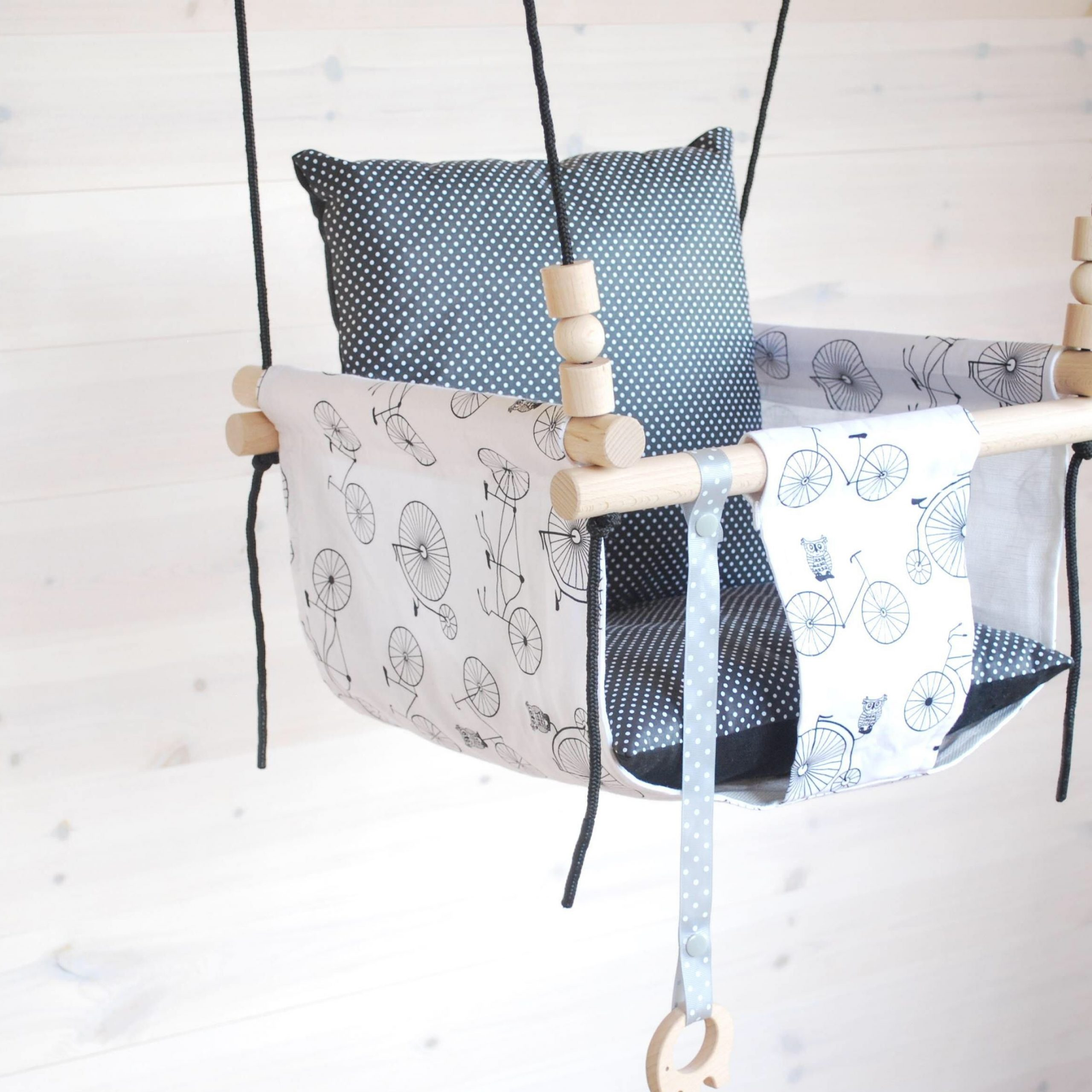 Baby Swing***ships Fast***wooden Swing/ Porch Swing/ Nursery Intended For Cotton Porch Swings (View 23 of 25)