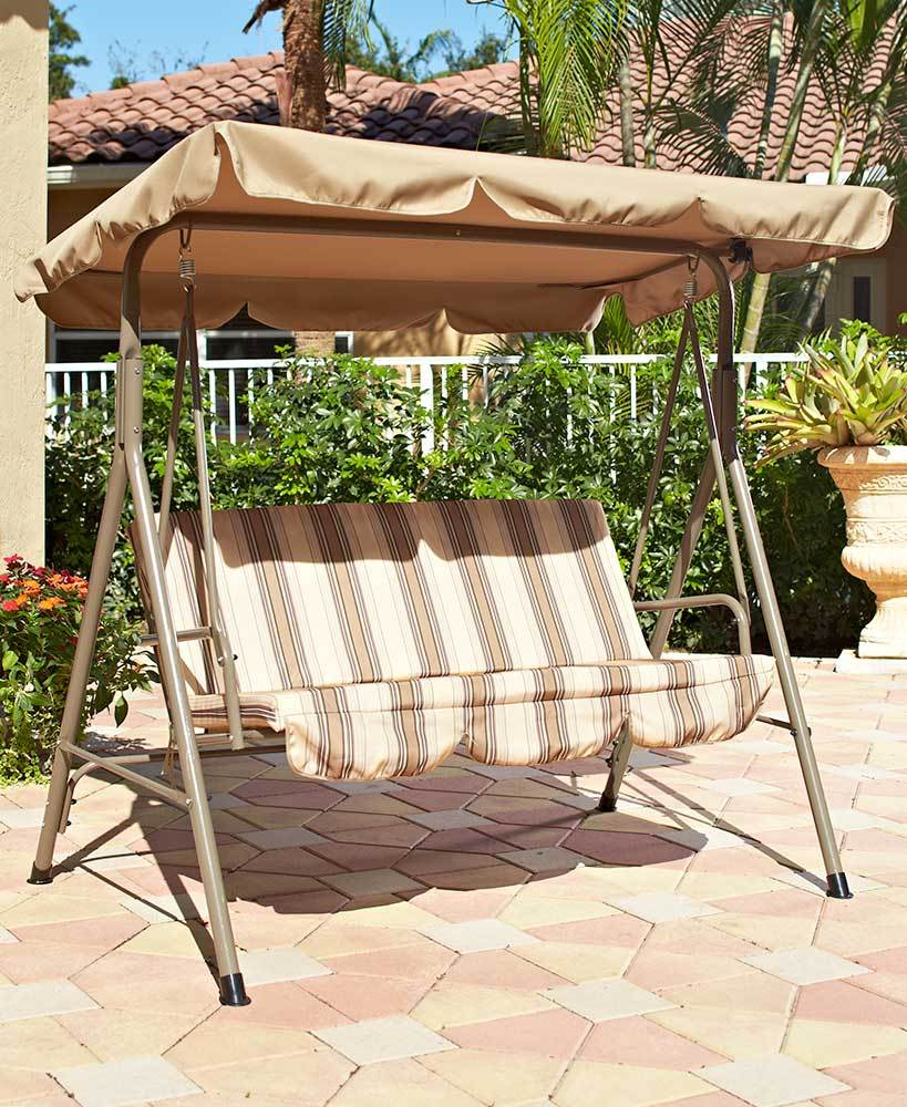 Backyard Garden Patio Deck Landscaping And 50 Similar Items With 2 Person Adjustable Tilt Canopy Patio Loveseat Porch Swings (View 12 of 25)