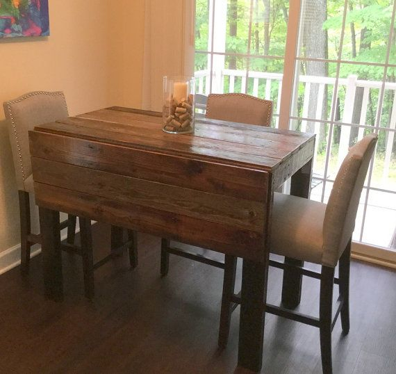 Barn Wood Drop Leaf Table | Leaf Table, Drop Leaf Table, Table With Transitional Antique Walnut Drop Leaf Casual Dining Tables (View 7 of 25)