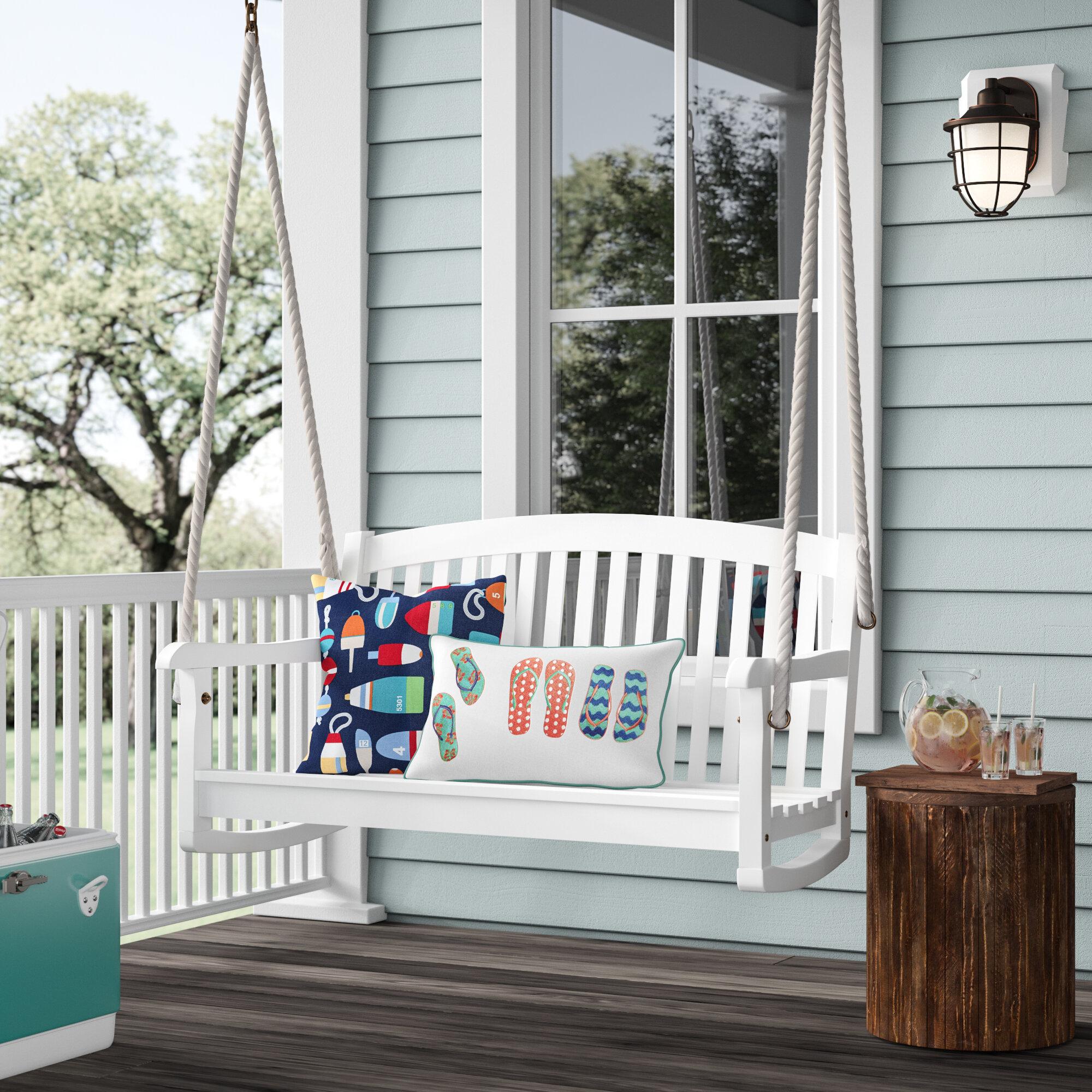 Beachcrest Home Bristol Porch Swing & Reviews | Wayfair Regarding Fordyce Porch Swings (View 12 of 25)