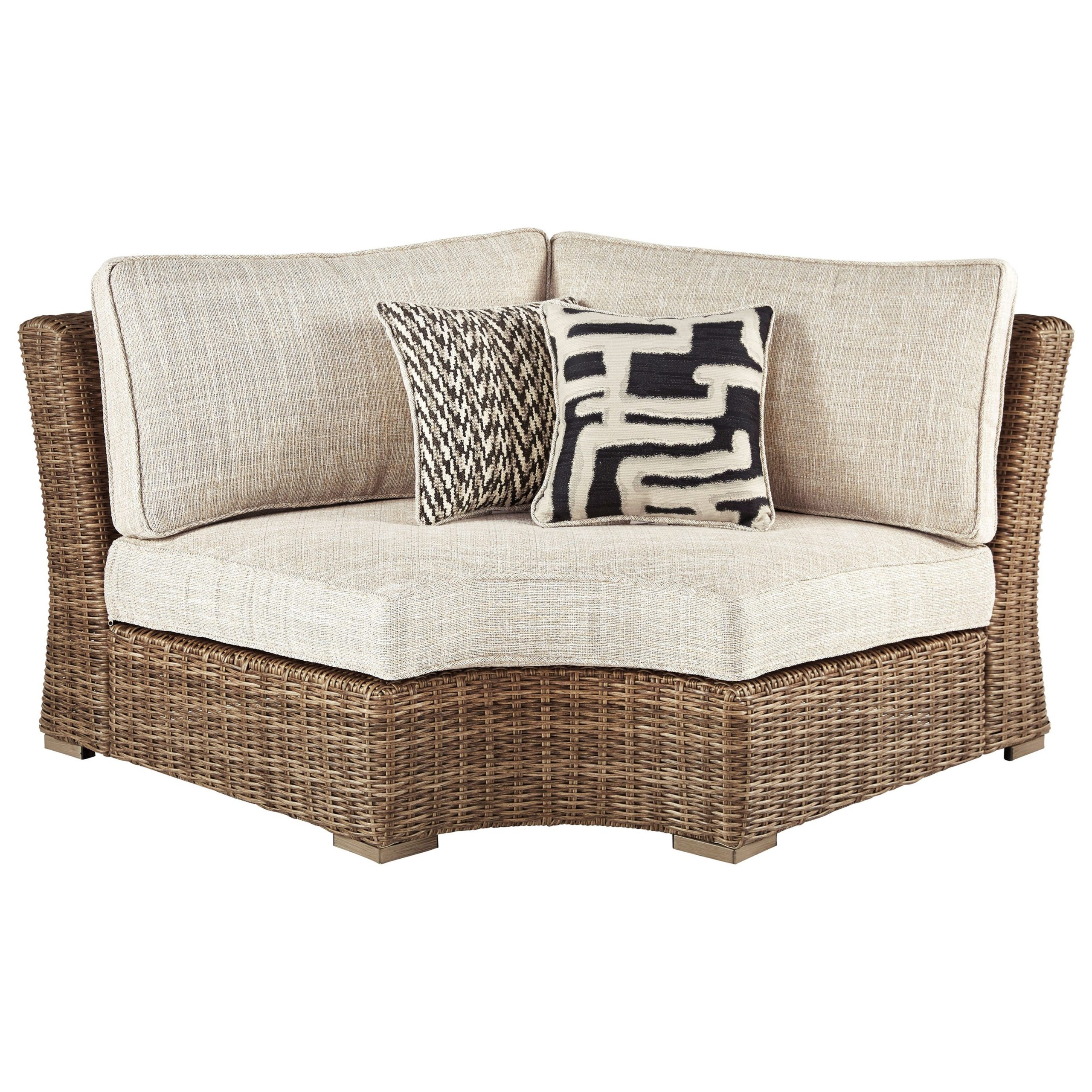 Beachcroft Curved Corner Chair With Cushion For Cushioned Glider Benches With Cushions (View 24 of 27)