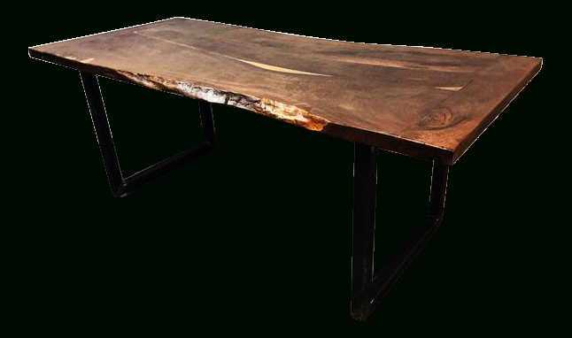 Beautiful Contemporary Handcrafted Live Edge Dining Table Within Walnut Finish Live Edge Wood Contemporary Dining Tables (Image 1 of 25)