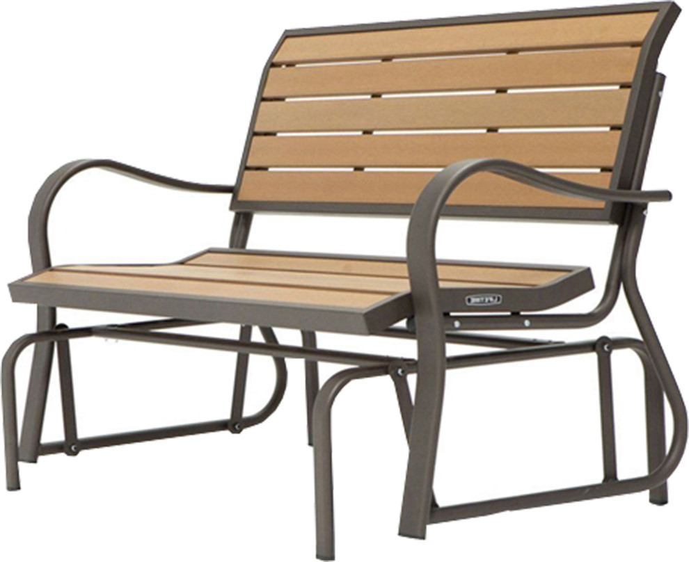 Beautiful Outdoor Loveseat Glider Bench Intended For Speckled Glider Benches (View 25 of 25)