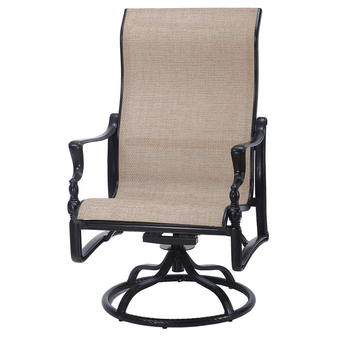 Bel Air Sling High Back Swivel Rocker Lounge Chair Inside Sling High Back Swivel Chairs (View 16 of 25)
