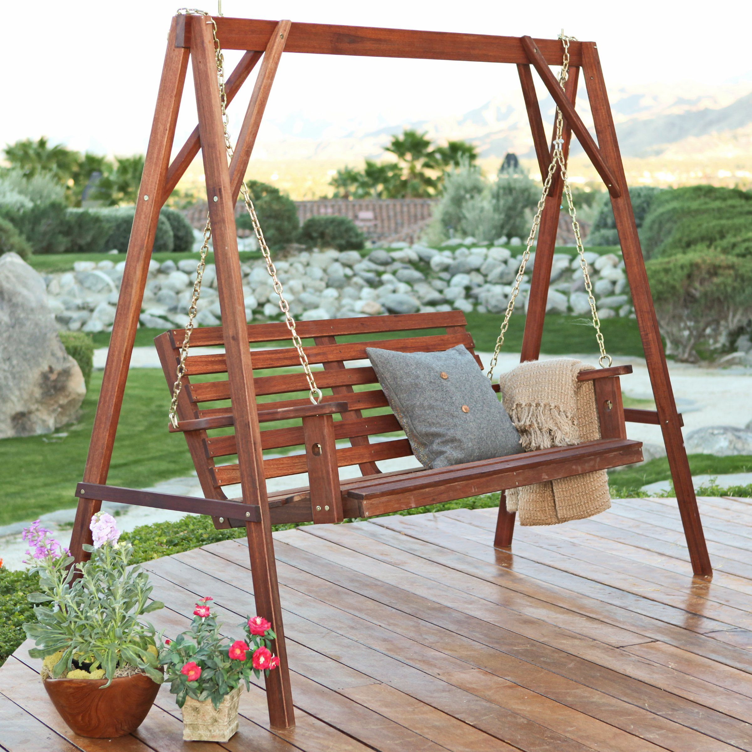 Belham Living Bay Ridge Porch Swing – Porch Swings At Intended For Patio Porch Swings With Stand (View 2 of 25)