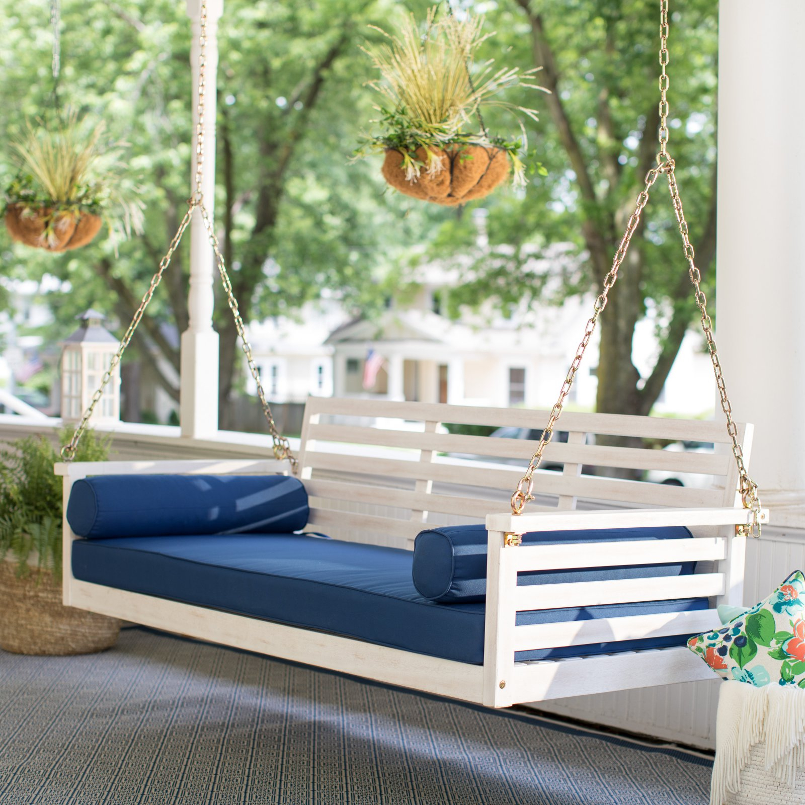 Belham Living Brighton Beach Deep Seating Porch Swing Bed With Regard To Nautical Porch Swings (View 10 of 25)