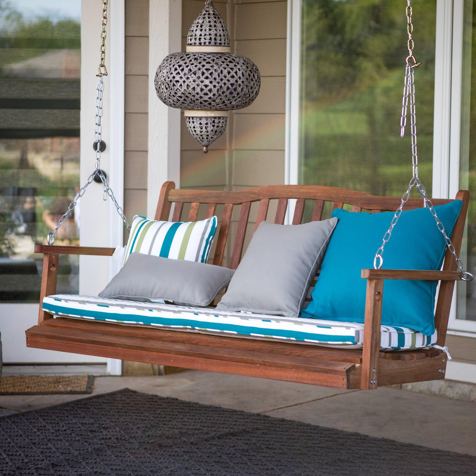 Belham Living Pearson Curved Back Porch Swing – Walmart Regarding Plain Porch Swings (View 21 of 25)