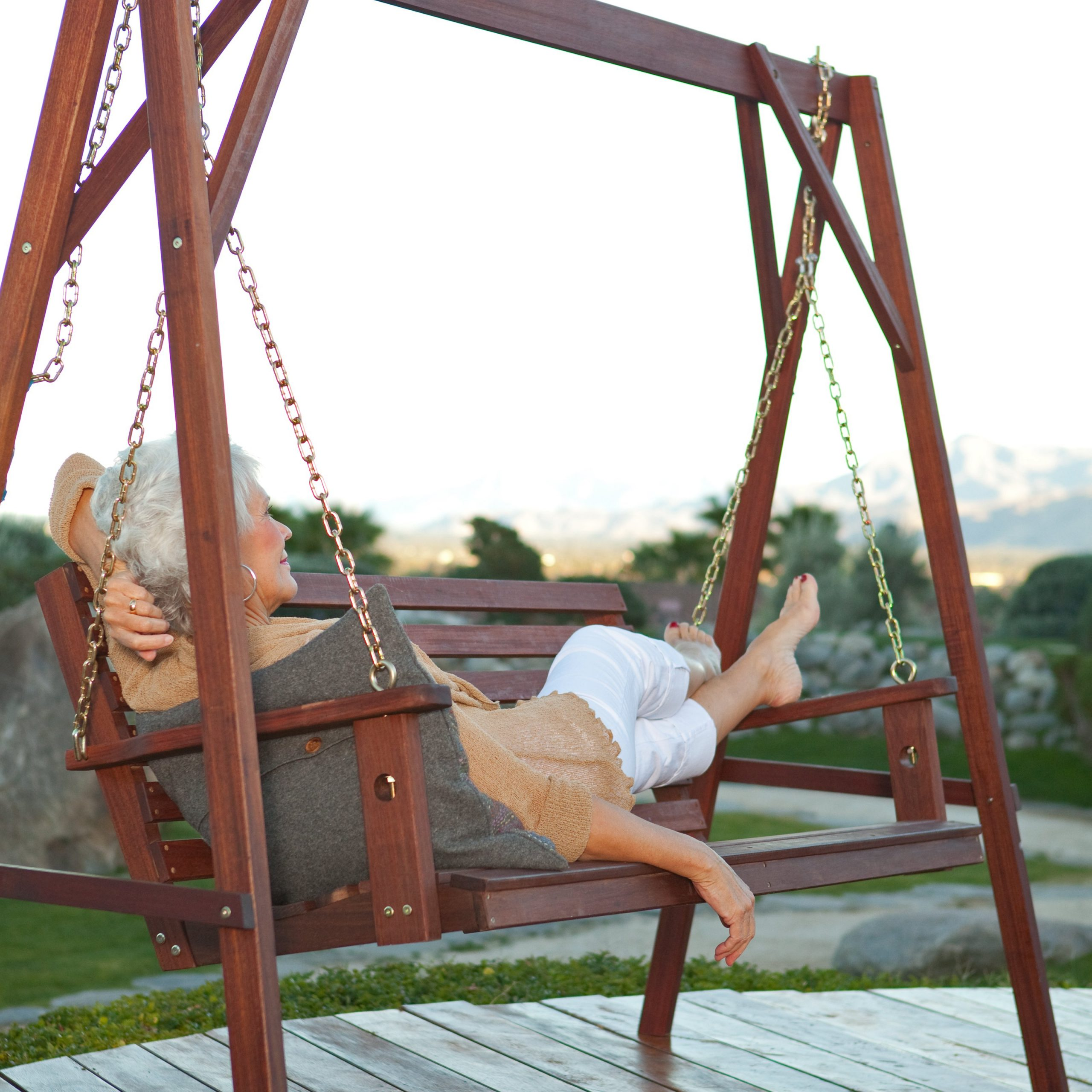 Belham Living Richmond Straight Back Porch Swing & Stand Regarding Porch Swings With Stand (View 15 of 25)