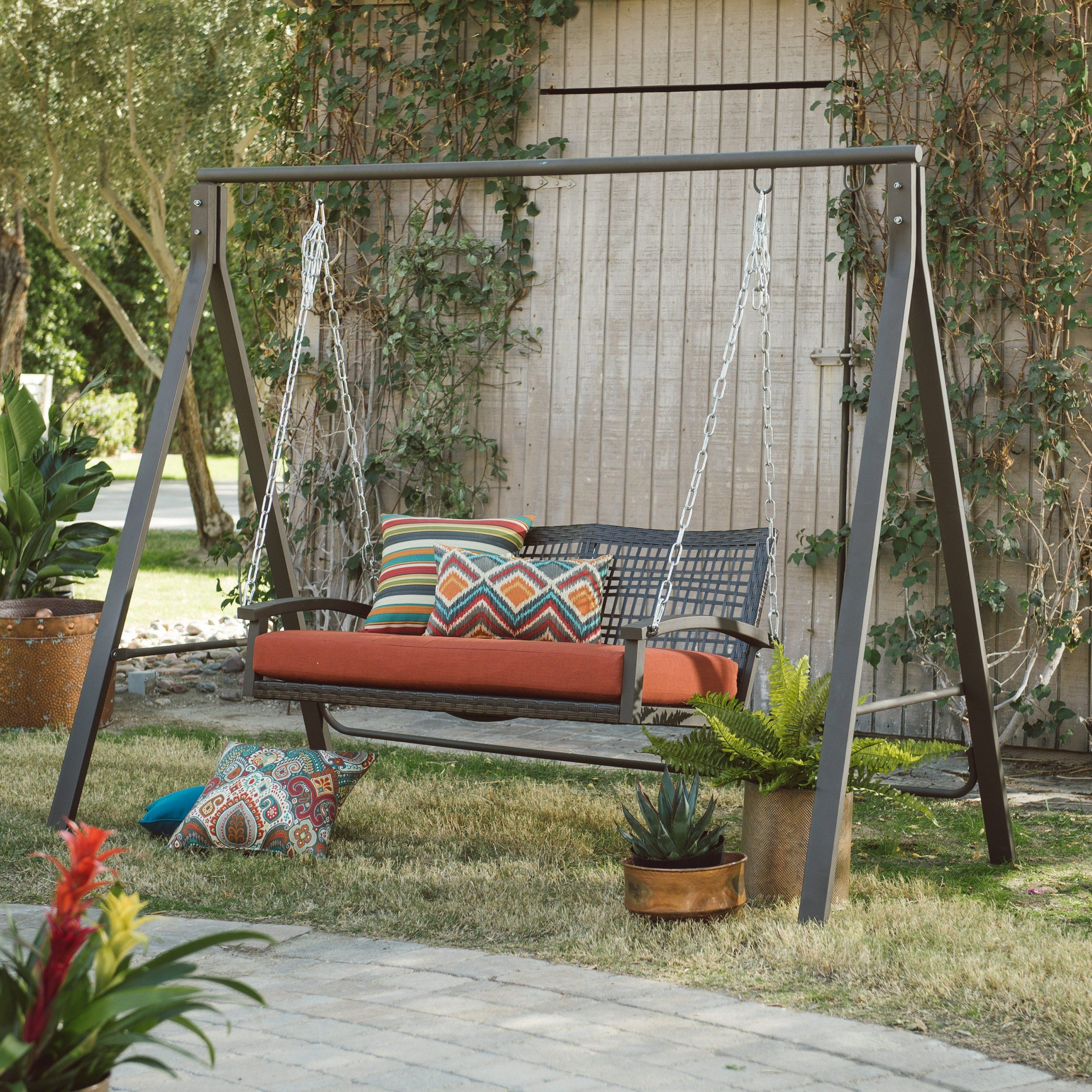 Belham Living Universal A Frame Metal Porch Swing Stand Pertaining To Porch Swings With Stand (View 16 of 25)