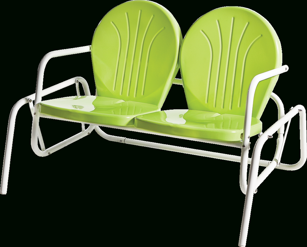 Bellaire Double Glider | Bellaire & Skylark With Outdoor Retro Metal Double Glider Benches (View 15 of 25)