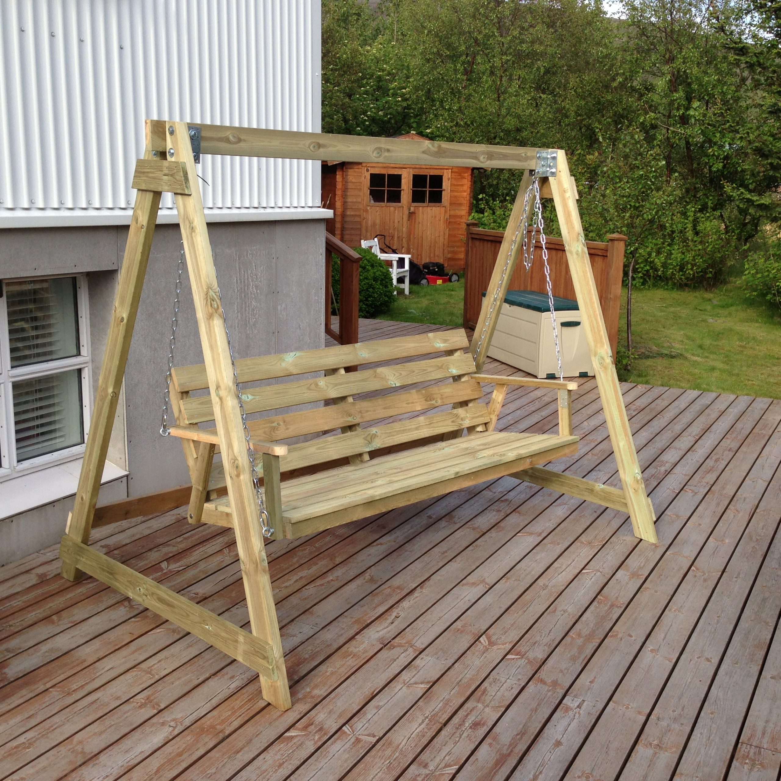 Bench Swing Plans Wooden Porch Swings Patio At Walmart With Pertaining To Patio Porch Swings With Stand (View 16 of 25)
