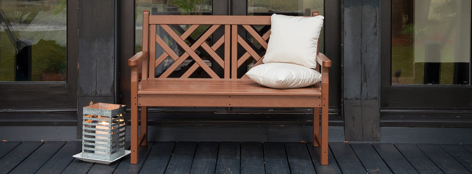 Benches, Swings, & Gliders | Polywood® Official Store Pertaining To Outdoor Fabric Glider Benches (View 21 of 25)
