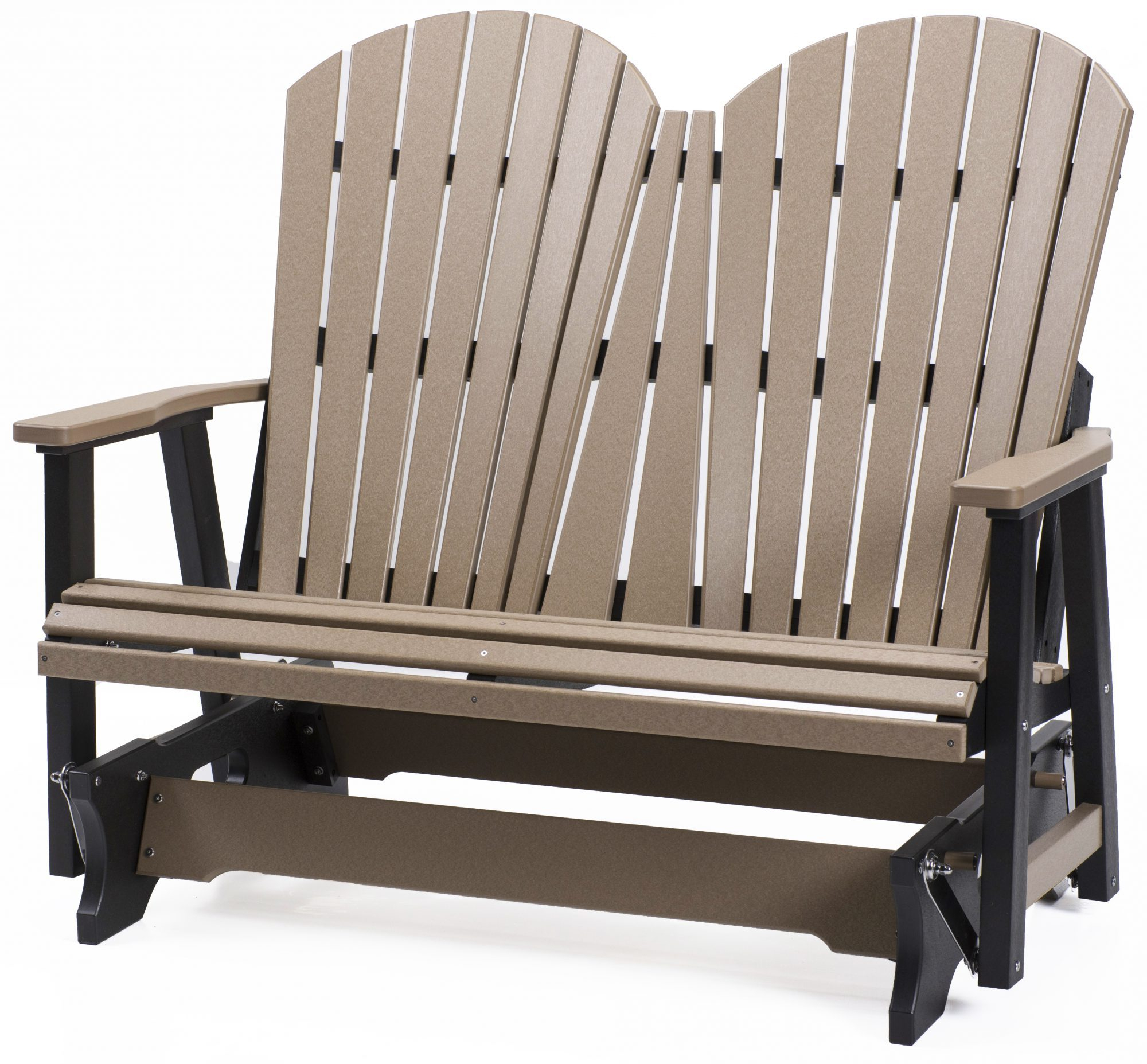 Berlin Gardens Poly Comfo Back Glider Bench | The Amish Inside Classic Adirondack Glider Benches (View 21 of 25)