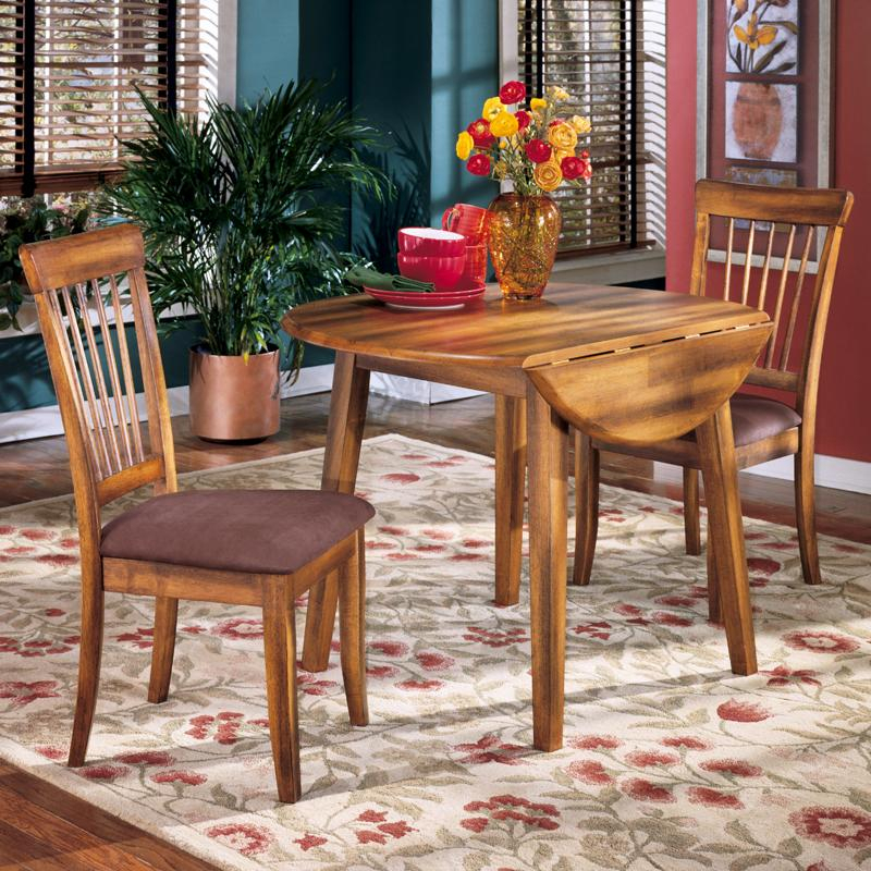 Berringer 3 Piece Drop Leaf Table & Side Chair Set Regarding 3 Pieces Dining Tables And Chair Set (View 11 of 25)