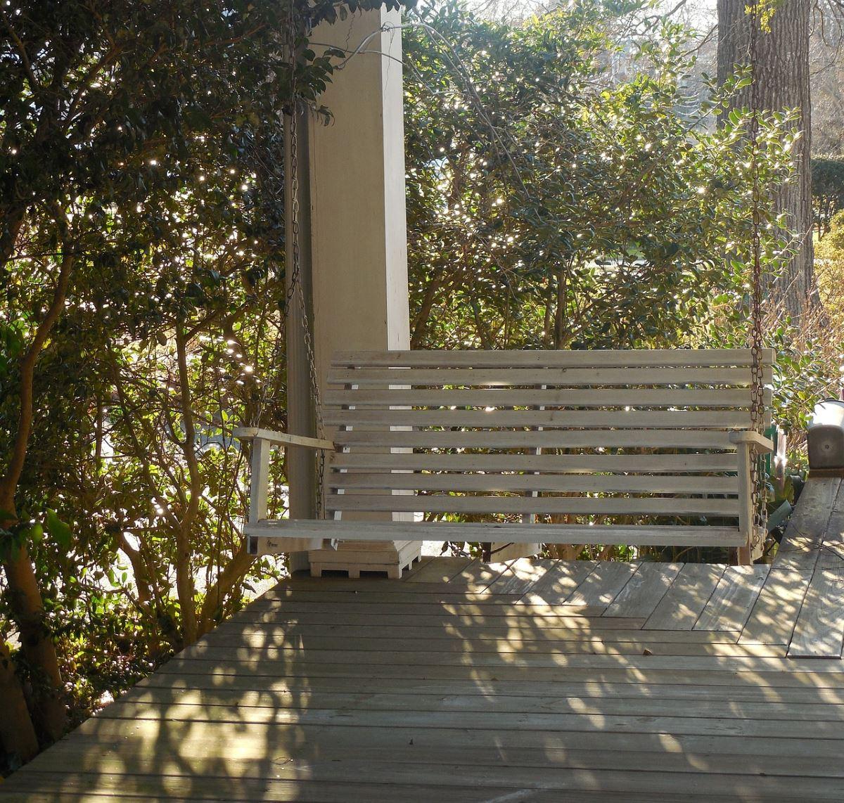 Best 20 Cedar Porch Swings | Salt Lamp City Inside 3 Person Natural Cedar Wood Outdoor Swings (Image 6 of 25)