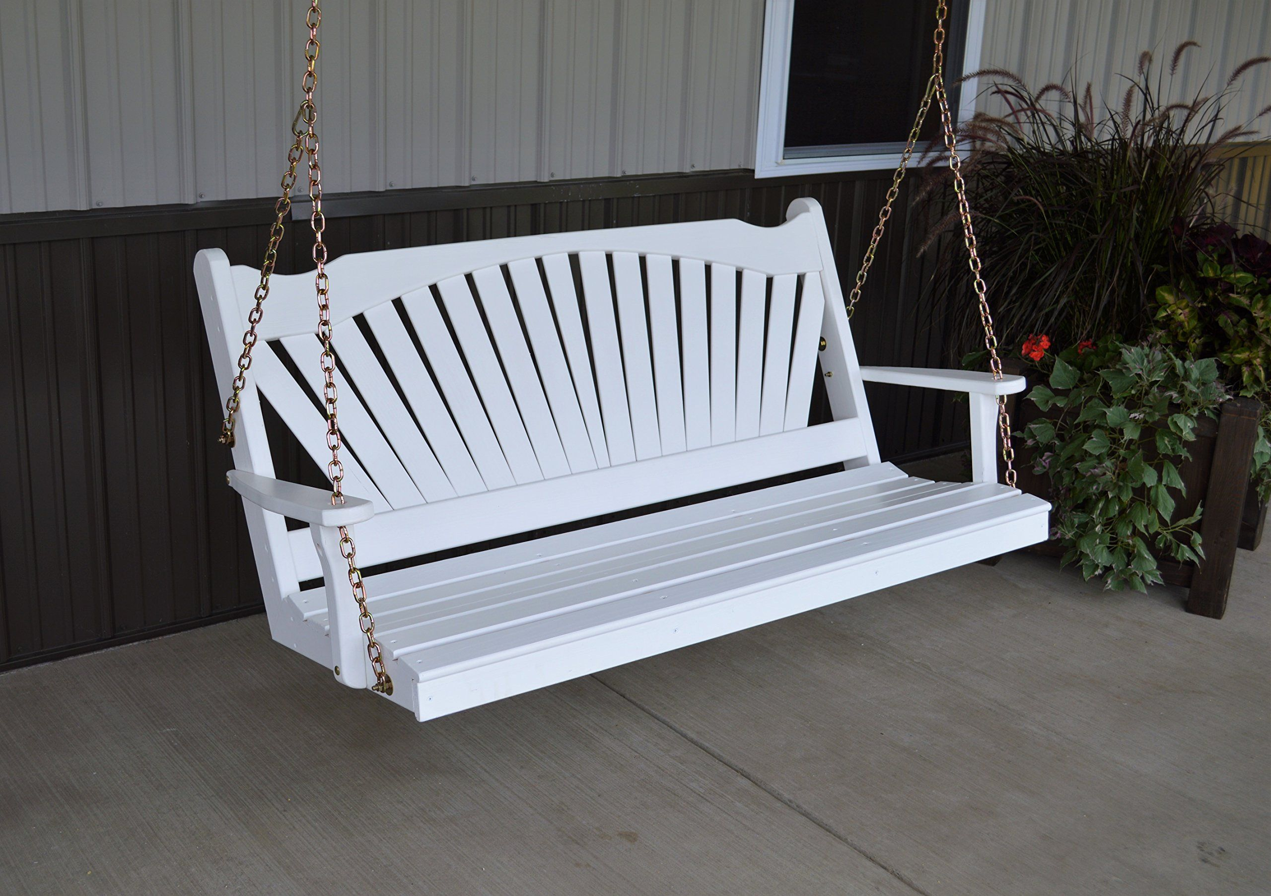 Best Porch Swing 5 Fanback Designer Patio #outdoorfurniture With Fordyce Porch Swings (View 3 of 25)