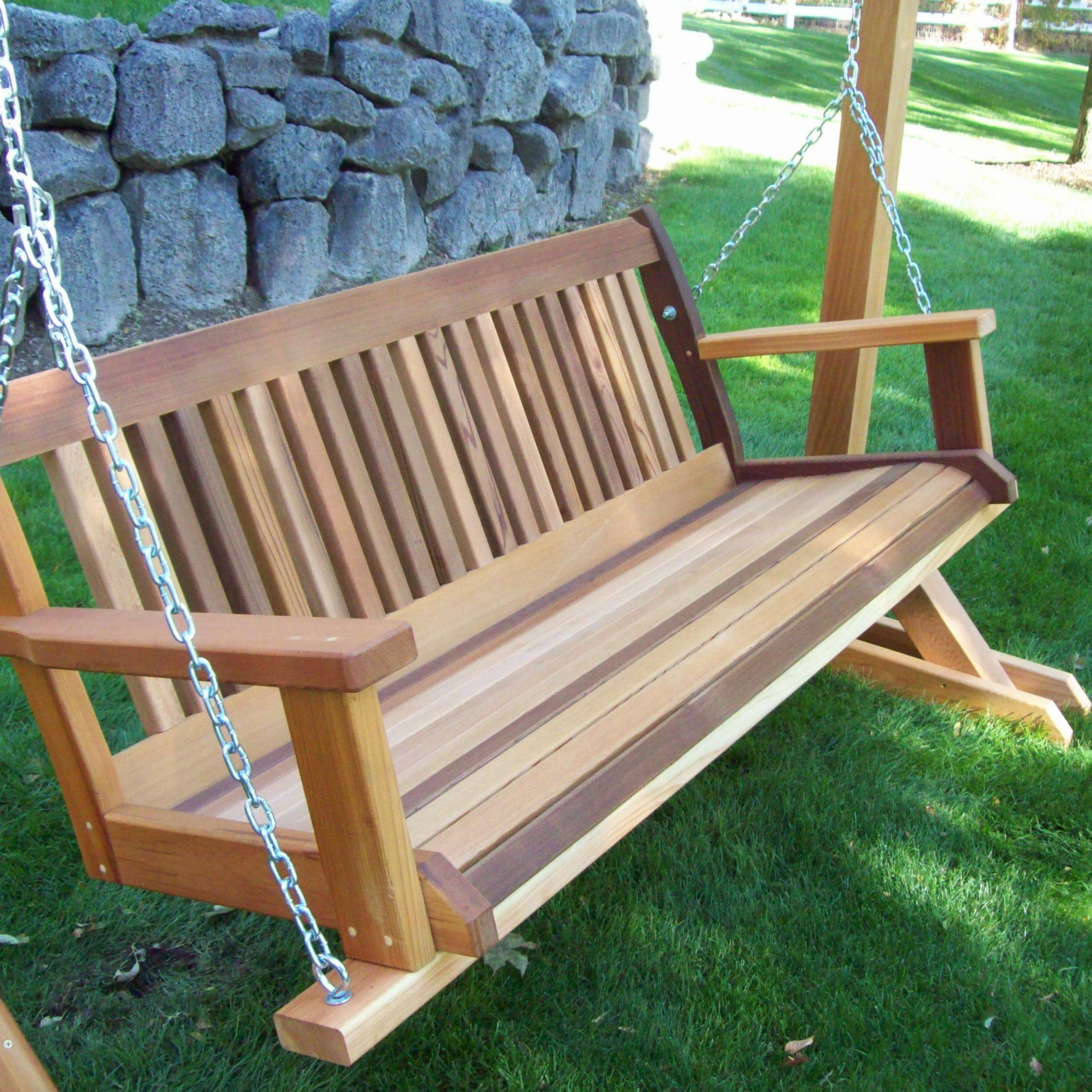 Best Porch Swing Reviews & Guide | The Hammock Expert For 2 Person Natural Cedar Wood Outdoor Gliders (Image 8 of 25)