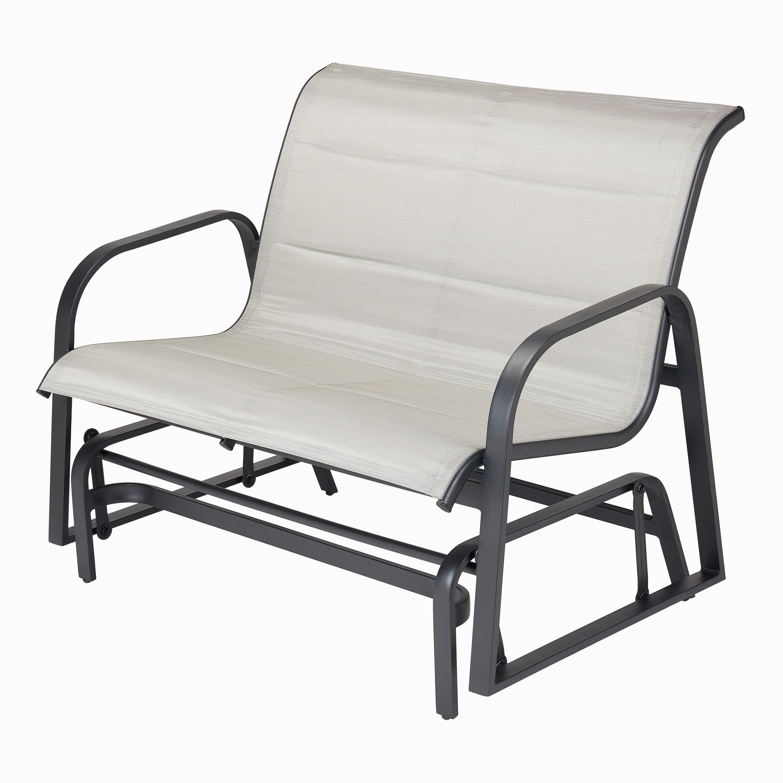 Better Homes & Gardens Montrose Padded Sling Glider Bench – Walmart With Padded Sling Double Glider Benches (View 9 of 25)