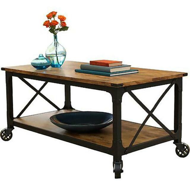 Better Homes & Gardens Rustic Country Coffee Table Weathered Pine Finish  Vintage For Country Dining Tables With Weathered Pine Finish (Image 5 of 25)