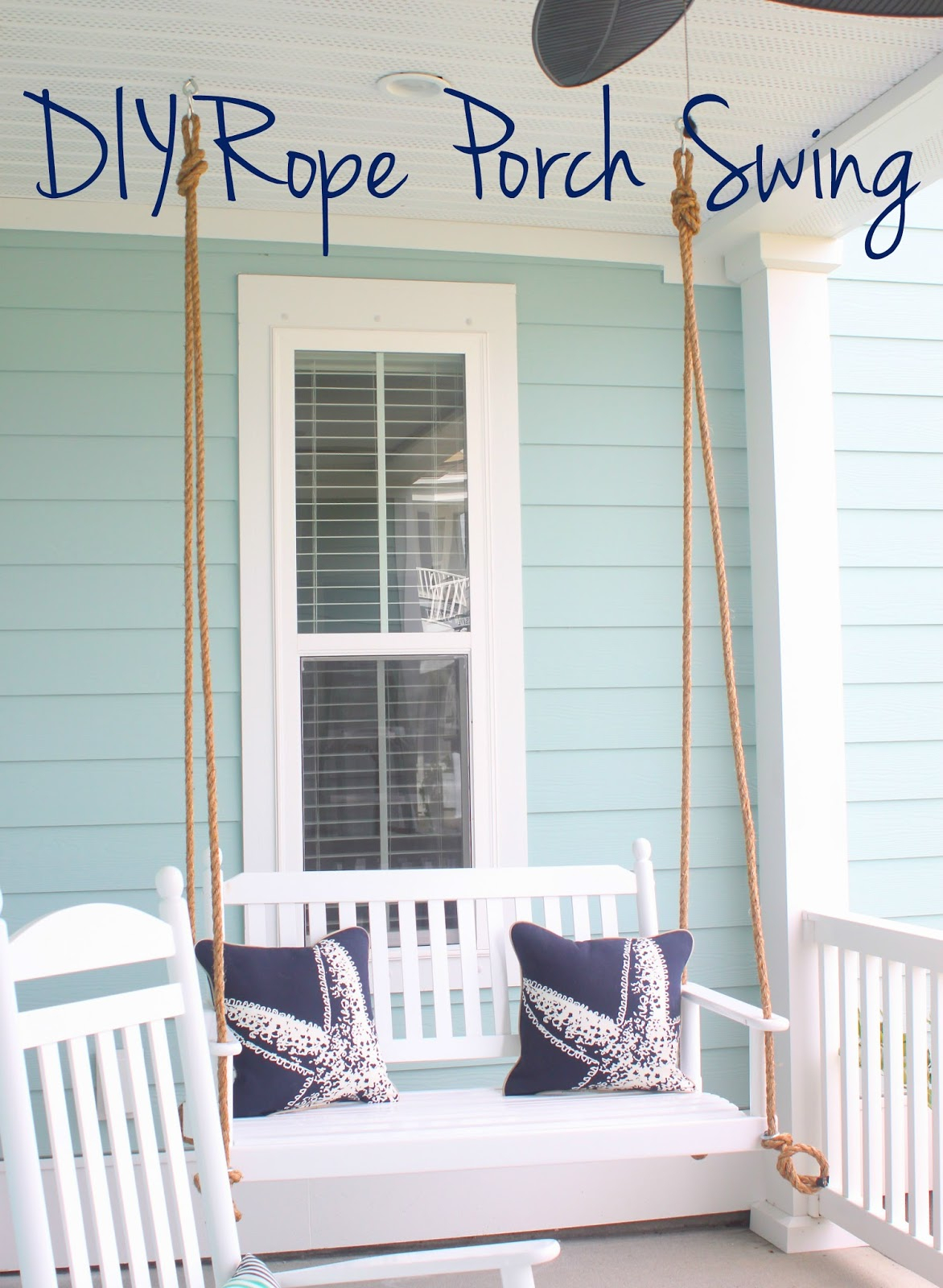 Borrowed Heaven: Diy Rope Porch Swing Pertaining To Hanging Daybed Rope Porch Swings (Image 6 of 25)