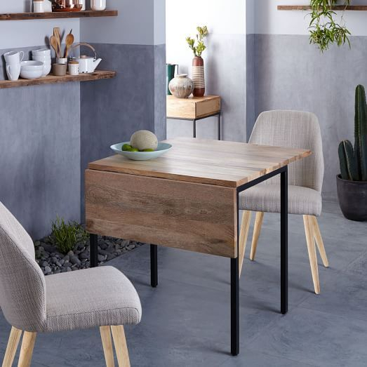 Box Frame Drop Leaf Expandable Table | Table For Small Space Throughout Unfinished Drop Leaf Casual Dining Tables (View 18 of 25)