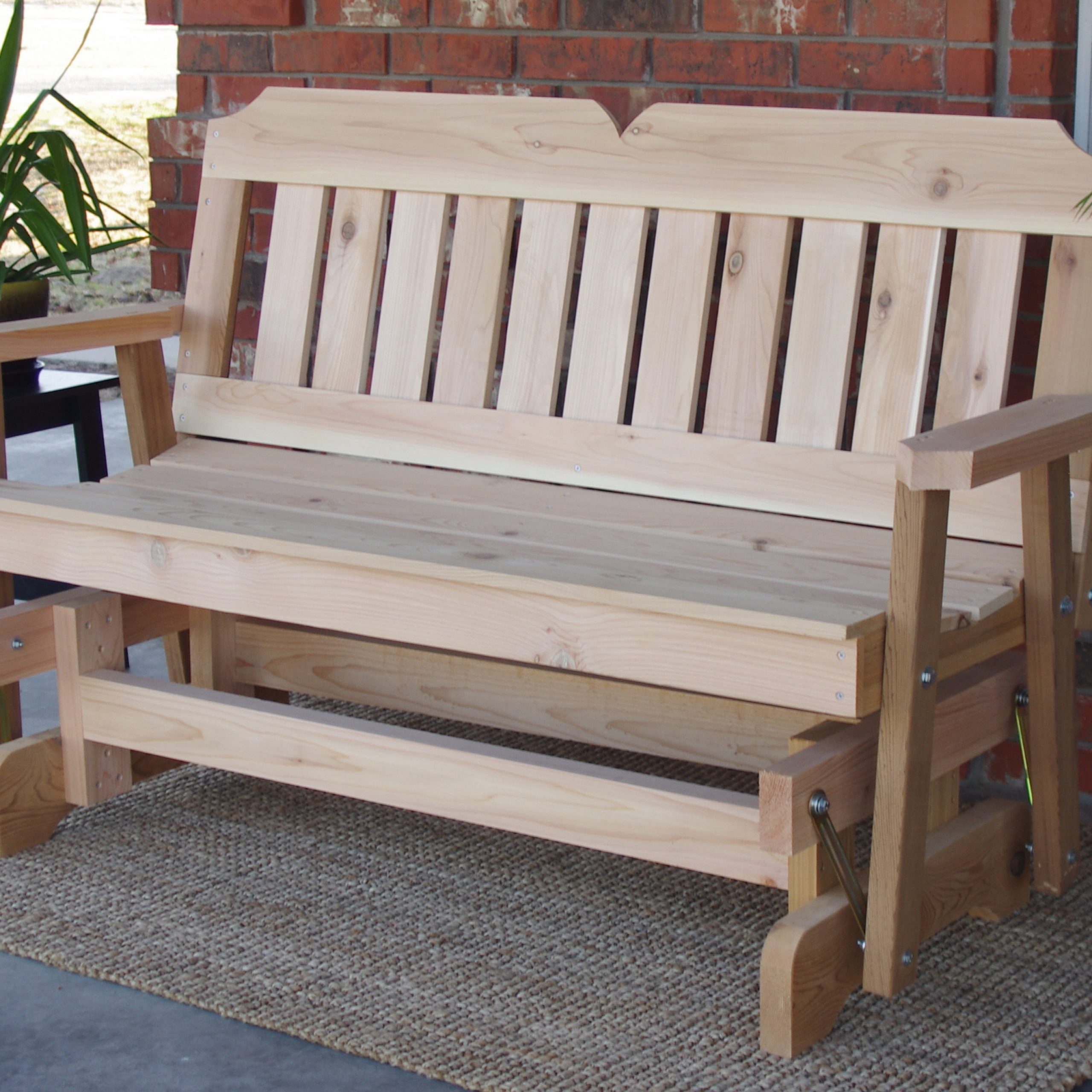 Brand New 5 Foot Cedar Wood Victorian Outdoor Glider – Free Shipping In Cedar Colonial Style Glider Benches (View 4 of 25)
