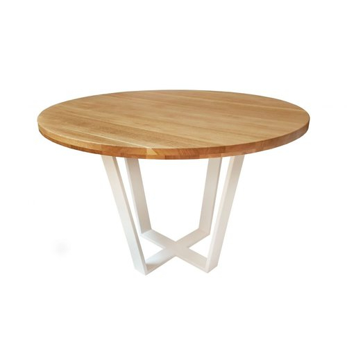 Brayden Studio Thurlow Round Dining Table | Circular Dining With Regard To Solid Wood Circular Dining Tables White (Image 4 of 25)
