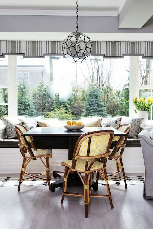 Breakfast Room Ideas – Transitional – Dining Room – Lindsey Regarding Bistro Transitional 4 Seating Square Dining Tables (View 18 of 25)