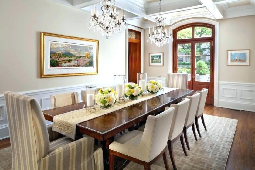 Breakfast Table Centerpiece Dinner Decor Ideas Dining Room With Regard To Medium Elegant Dining Tables (View 3 of 25)