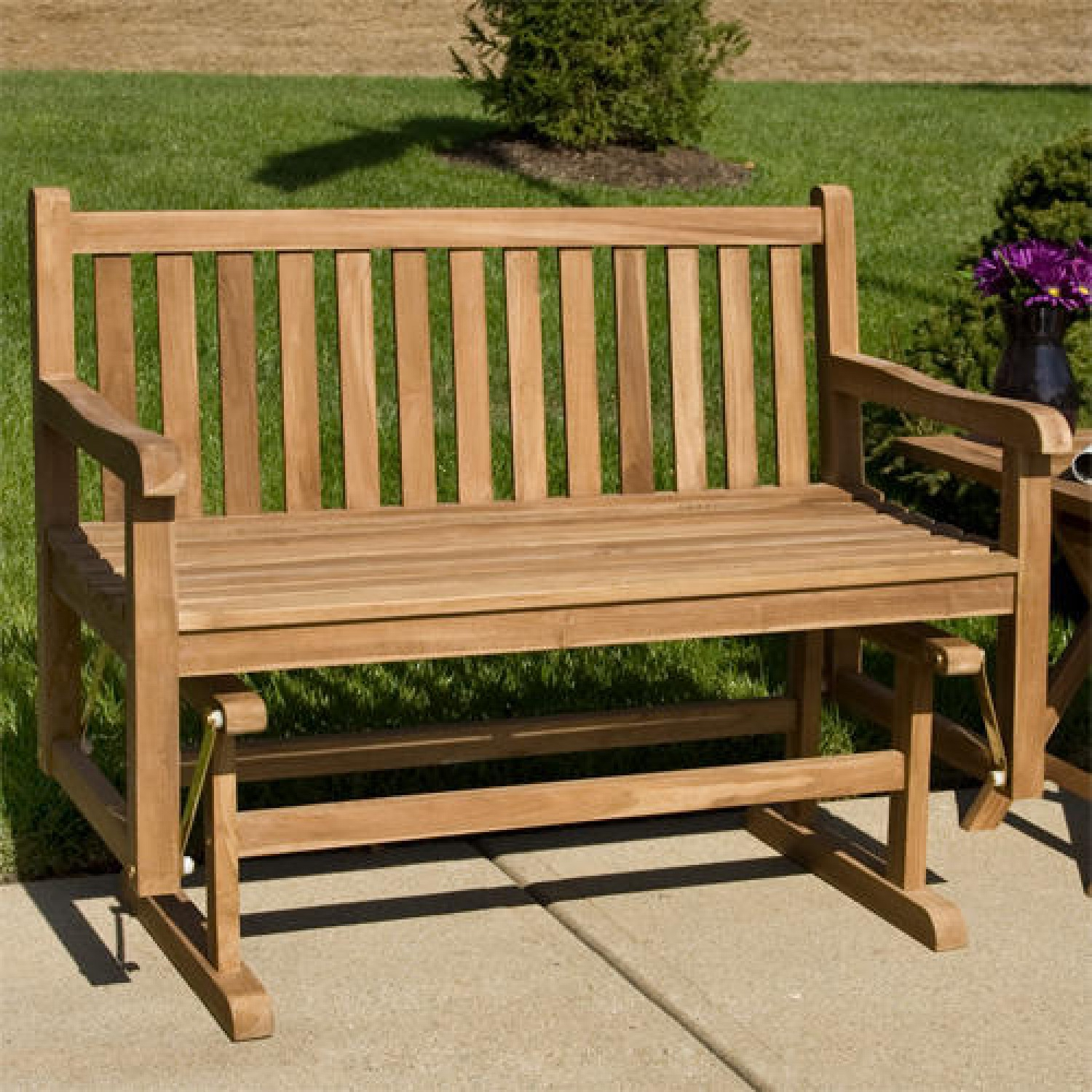 Build Outdoor Glider Bench : Outdoor Decorations – What Is With Teak Outdoor Glider Benches (View 8 of 25)